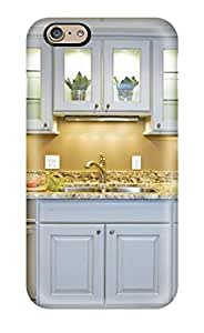 Hot Tpye Butterscotch Kitchen With White Glass-front Cabinets Amp Granite Countertop Case Cover For Iphone 6