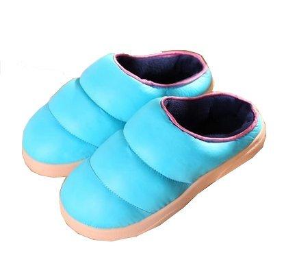 Blubi Para Mujer De Terciopelo De Algodón Color Sólido Pantuflas Pantuflas De Dormitorio Mejores Zapatillas Azul