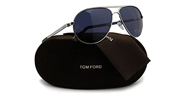 50a252037c5 Amazon.com  TOM FORD FT0144 Marko Sunglasses Silver w Dark Blue (18V) TF144  18V 58mm Authentic  Clothing