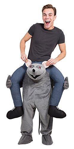 Halloween Costumes For Rats (Bristol Novelty AF018 Rat Piggy Back Costume, One)