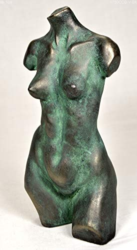 Woman torso sculpture, bronze sculpture by Lluis Jordà
