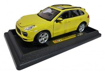 Porsche Cayenne Turbo amarillo 1:24 Bburago: Amazon.es: Juguetes y juegos