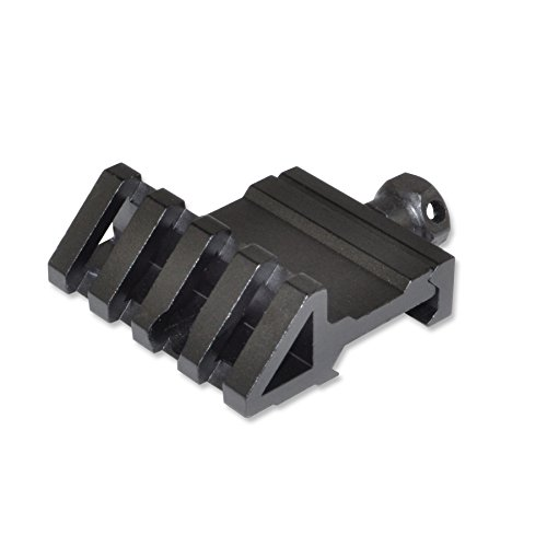 QD Offset 45 Degree Angled 20mm Mount Base for Sights Weaver Picatinny Rail Scope Mount (45 Degree Offset) ()