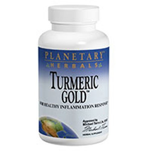Turmeric Gold, 500 mg, 60 tabs by Planetary Herbals (Pack of 2) ()