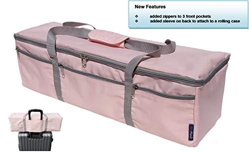 StarPlus2 Compact Craft Machine Tote Bag Case, Sized to Fit Cricut Explore, Cricut Explore Air, Cricut Explore Air 2, Cricut Explore One, Cricut Maker, Silhouette Cameo 3 Cutters - Pink - Not Padded (Cricut Explore Air Vs Cricut Explore Air 2)