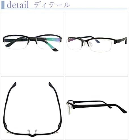 SHOWA 遠近両用メガネ Dimanni (マットブラック) (メンズセット) 全額返金保証 境目のない 遠近両用 眼鏡 老眼鏡 おしゃれ メンズ 男性 リーディンググラス (瞳孔間距離:男性平均62mm~64mm, 近くを見る度数:+1.0)