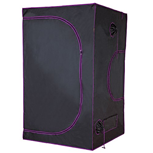 "Apollo Horticulture 48""x48""x80"" Mylar Hydroponic Grow Tent for Indoor Plant Growing ()"