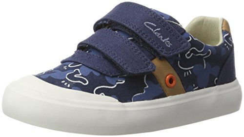 Clarks Comic Zone Inf, Zapatillas para Niños Azul (Navy Canvas)