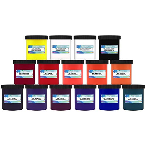Ecotex Water Based Discharge Ink KIT for Screen Printing - 14 Pints of Ink Includes Discharge Activator - Fabric/Textile Ink