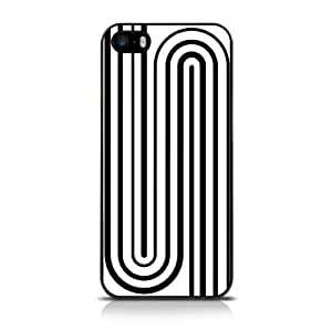 Call Candy - Carcasa para iPhone 5S, diseño geométrico, color blanco y negro
