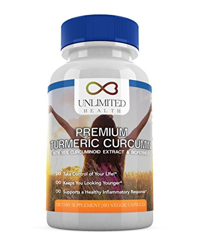 Turmeric Curcumin & BioPerine Extract 95% Cucurminoids ★ 2 Month Supply ★ Gluten, GMO, & Soy Free Vegetarian Capsules – Pain Relief & Joint Support Supplement with Black Pepper