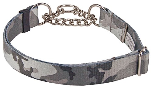 Country Brook Design Urban Camo Half Check Dog Collar - Large