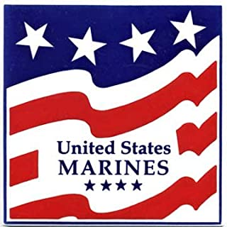 product image for MILITARY GIFTS-MARINES CERAMIC WALL PLAQUE by Besheer Art Tile, Bedford, New Hampshire, U.S.A