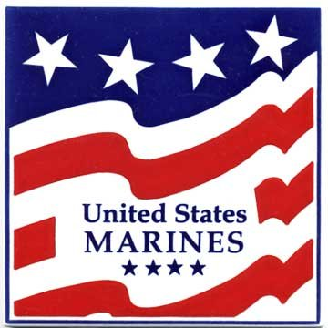 (MILITARY GIFTS-MARINES CERAMIC WALL PLAQUE by Besheer Art Tile, Bedford, New Hampshire, U.S.A)