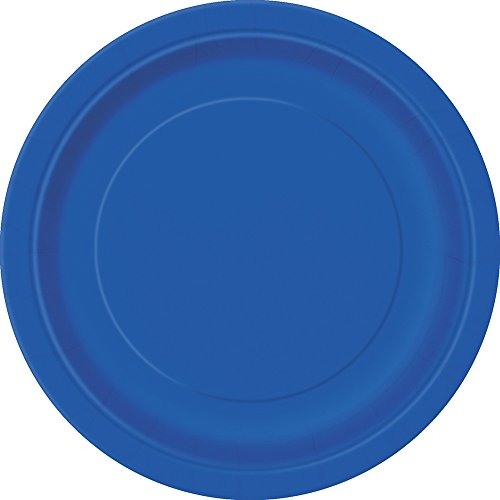 Royal Blue Paper Cake Plates