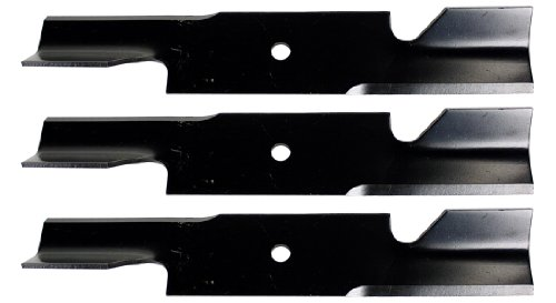 USA Mower Blades U11185BP (3) Extra High-Lift for Simplicity 5021227ASM Scag 482878 A48108 Length 18 in. Width 3 in. Thickness .200 in. Center Hole 5/8 in. 36in. 52 in. Deck ()