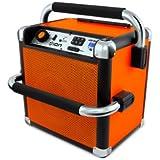 Ion Audio iPA30 Job Rocker Portable Heavy-Duty Bluetooth Speaker System with AM/FM Radio, Orange