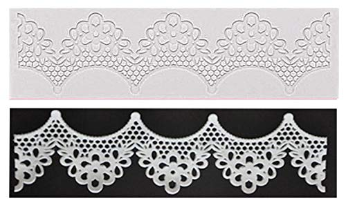 - Lace Ruffle Pink Silicone Mold for Fondant, Gum Paste, Chocolate, Crafts