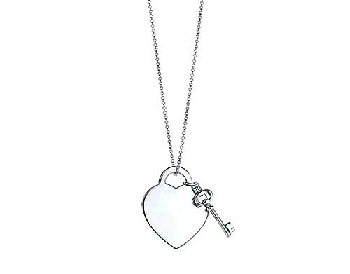 Salto con cerradura, diseño de collar con colgante en forma de corazón y de llave