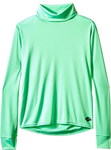 (Hot Chillys Kids Unisex Peachskin Turtleneck (Little Kids/Big Kids) Spring Green Small)