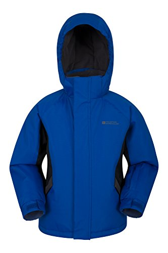 Mountain Warehouse Raptor Kids Snow Jacket - Winter Ski Coat Blue 3-4 Years
