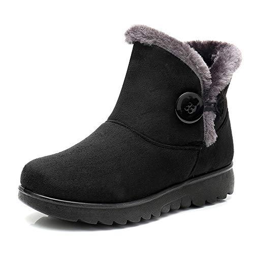 - SMALLE ◕‿◕ Women's Ladies Winter Ankle Martin Short Snow Boots Fur Footwear Warm Shoes