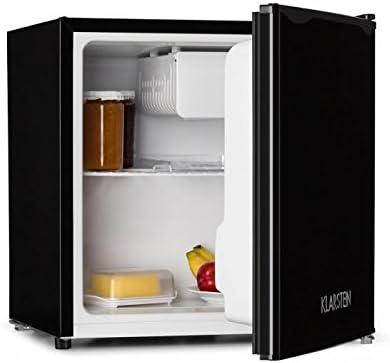 Klarstein KS50-A Minibar Minikühlschrank Mini Snacks- und Getränkekühlschrank (40 Liter, 1 x Regaleinschub, 1 x Türablagefach, 1 x Türflaschenablage, Gefrierfach, leise) schwarz