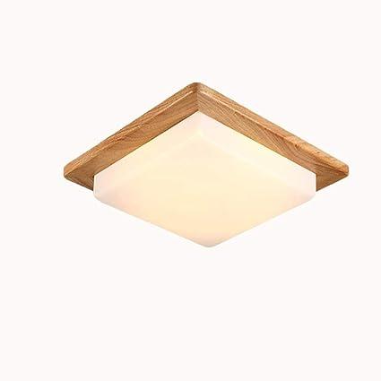 SUNA LED De Estilo Europeo Lámpara De Techo Lámpara De Madera ...