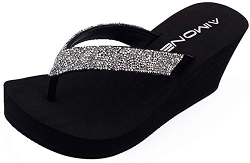 Summer Sandals Wedges Women Slip Flip Flops Beach Sandals for sale  Delivered anywhere in USA