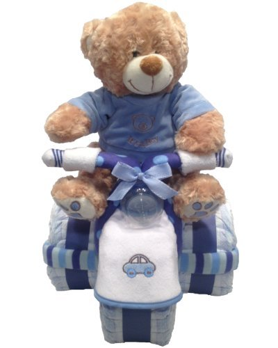 Baby Boy Tricycle Diaper Cake (with toy)