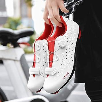 WWSUNNY Zapatillas de Bicicleta de Monta/ña,,Calzado de Bicicleta Zapatos de Bicicleta Antideslizantes Transpirables para Hombres para Ciclismo de Carretera y Ciclismo de monta/ña