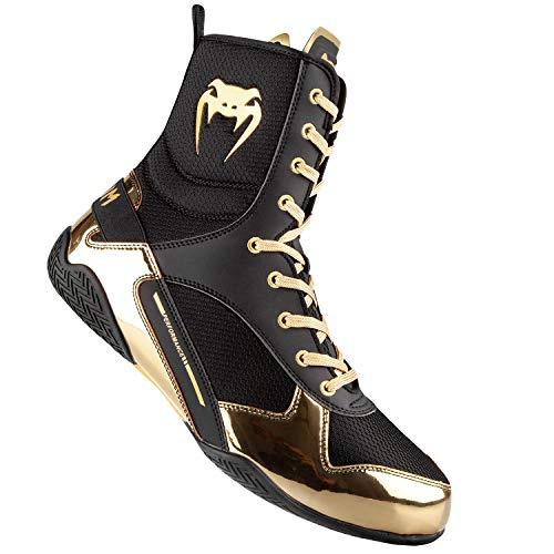 Venum Elite Boxing Shoes - Black/Gold - Size 10 (44)