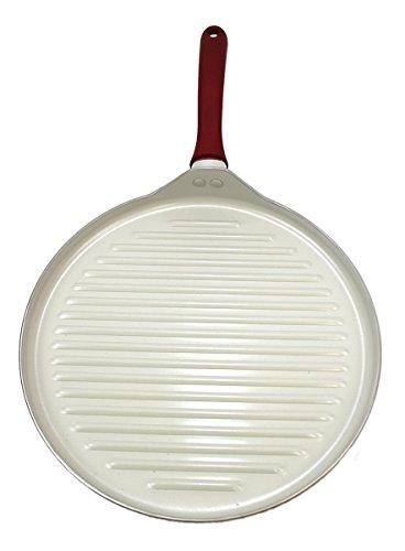 Hamilton Beach 13-Inch Round Ceramic Grill Pan Red 09263 (Non Stick 13 Inch Round Griddle)