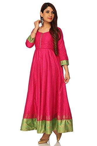 BIBA Pink Anarkali Viscose Kurta34 by Biba (Image #2)
