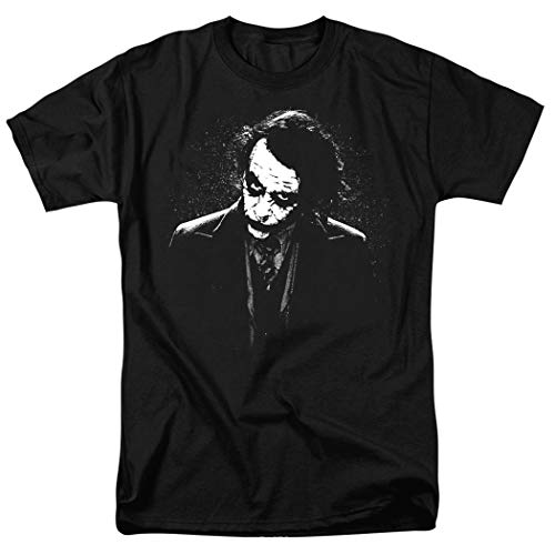(Popfunk The Dark Knight Heath Ledger Dark Joker T Shirts & Exclusive Stickers (Large))