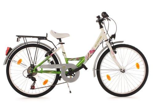 KS Cycling Kinder Fahrrad Kinderfahrrad Papilio RH 36 cm, Weiß, 24, 857B