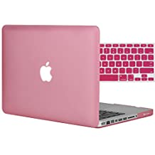 """Easygoby 2in1 Matte Frosted Silky-Smooth Soft-Touch Hard Shell Case Cover for 13-Inch MacBook Pro 13.3"""" [Non-Retina] (Model: A1278)+ Keyboard Cover - Pink"""
