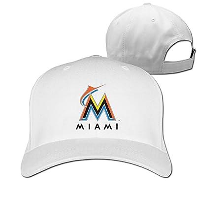 CUG Miami Marlins Game Time Adjustable Solid Baseball Hat White