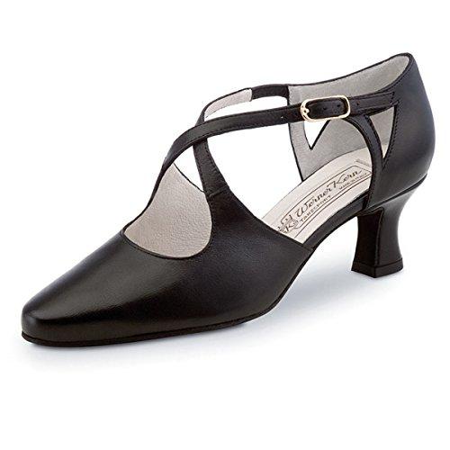 Werner Kern–Zapatos de baile para mujer Ines 5,5piel negro
