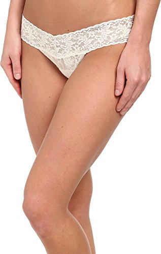 Low Thong Panties - Hanky Panky Women's Signature Lace Low Rise Thong Panty, Ivory, One Size