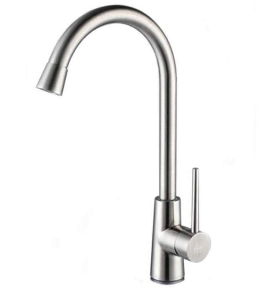 Chrome Kitchen Sink Taptaps Mixer Swivel Faucet Sink Lead-Free 304 Stainless Steel Kitchen Faucet 360 Degree redating Hot and Cold Vegetable Pot Faucet
