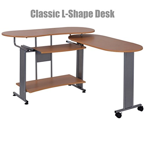 Classic Style Solid Wood Laptop Computer Desk Corner PC Table Workstation Home Office Decor Furniture #1040