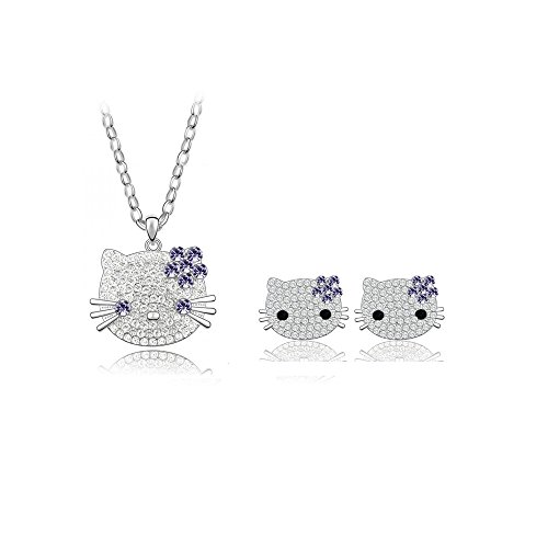 Mall of Style Hello Kitty Jewelry Set for Women/Girls - Teenage Jewelry (Purple)