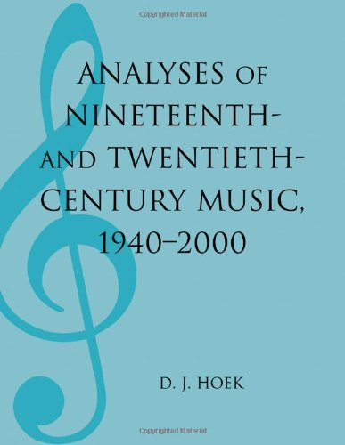 Analyses of Nineteenth- and Twentieth-Century Music, 1940-2000 (MLA Index and Bibliography Series)