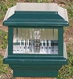 Titan Flat Top Deck Light, Verde Green, Fits 3 1/2'' Post, 3 5/8'' Actual Opening, 18 Watt 1 Lite