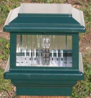 Lite Post (Titan Flat Top Deck Light, Verde Green, Fits 3 1/2