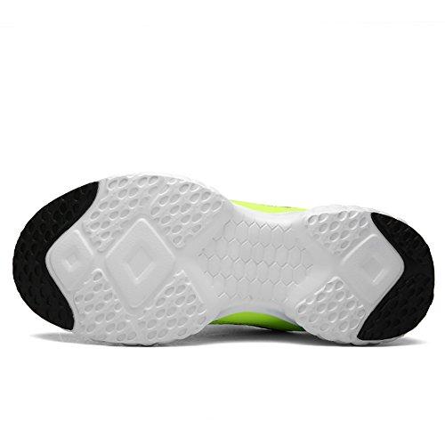 JINDENG Herren Damen Laufschuhe Sportschuhe Flexible Casual Sportschuhe Fashion Walking Sneakers Grün
