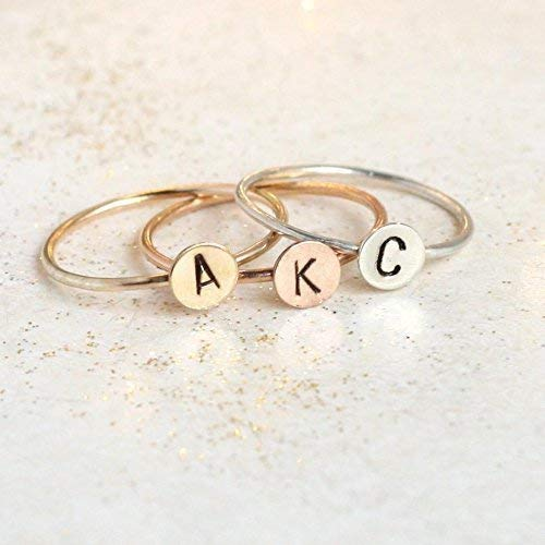 5f930a3a5b Image Unavailable. Image not available for. Color: initial ring. personalized  ring. ROSE ...