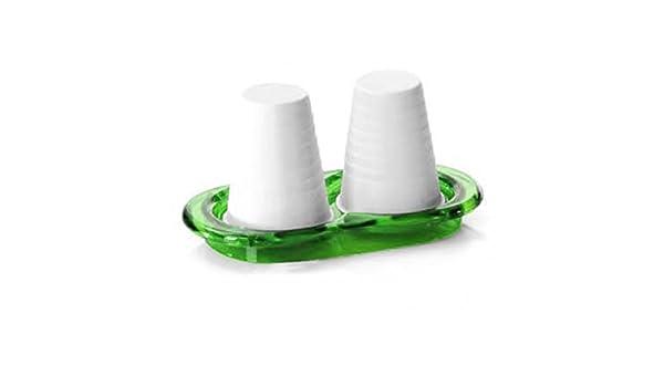 omada Adamo dispensador de vasos de papel desechables doble taza soporte de mesa acrílico verde: Amazon.es: Hogar