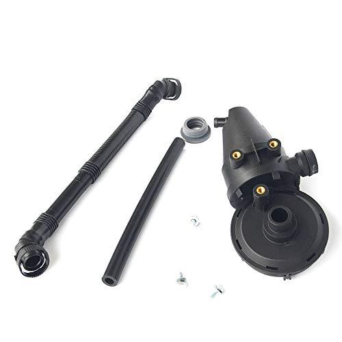 (Crankcase Oil Separator PCV Vent Valve Kit Breather Hose-4pc 11151703775 11151740393 )